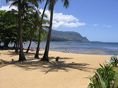 Beach Below Hanalei Bay Resort