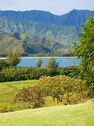 View of Hanalei Bay from front of 4106