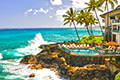 Poipu Shores Condos located on the south shore near Poipu Beach. Enjoy luxury oceanfront 1 and 2 bedroom accommodations, plus swim in an oceanside pool.