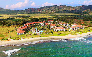 Aerial View Of Kauai Beach Resort